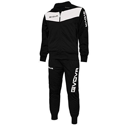 givova-tuta-visa-training-allenamento-calcio-running-sport-tracksuit-uomo-donna-nero-bianco-l