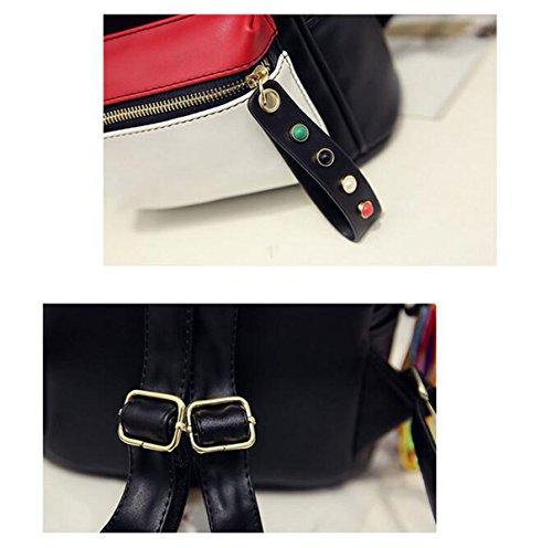 QPALZM Leder Rucksack Frauen Weich & Mode Lovely Rucksack Nette Schule Tasche Schultertasche Für Mädchen Red