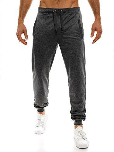 OZONEE Uomo Jogging Pantaloni Tempo Libero Sport Pantaloni Jogging Jogger Pantaloni da ginnastica Fitness STREET STAR 7053 Grigio scuro