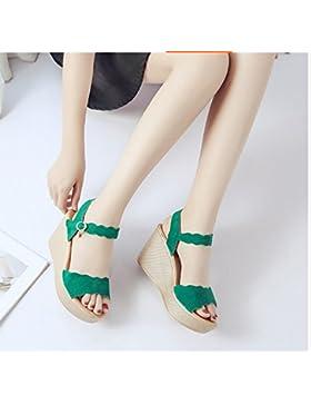 SDKIR-Maggiore è la pendenza con sandali, femmina estate selvatica di spessore impermeabile desktop sandali, ritenuta...