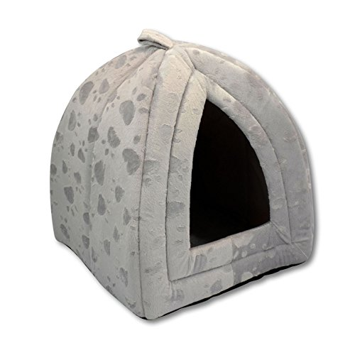 luxury-pet-igloo-dog-cat-soft-comfy-house-bed-igloo-grey