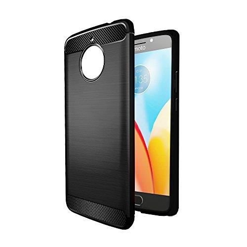 online store fc055 5b33e Amazon Brand - Solimo Moto E4 Plus Protective Mobile Cover (Soft & Flexible  Back Case), Black