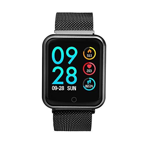 Imagen de soloking pulsera actividad impermeable ip68 con 8 modes de ejercicio,podometro,pulsómetros,monitor de dormir,pulsera reloj inteligente para hombre,mujer,niño negro  alternativa