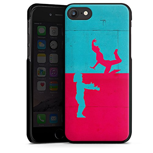 Apple iPhone X Silikon Hülle Case Schutzhülle Paar Liebe Abstrakt Hard Case schwarz