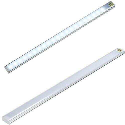 Acxeon - Barra de luz LED de 30cm, con control mediante interruptor táctil para ajustar el brillo, para utilizarse en dormitorios, salones, oficinas, armarios empotrados y escritorios, alimentada por USB