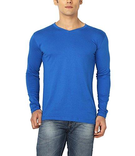 Joke Tees Solid Men's Perfect Vee Long T-Shirt(Royal Blue) (Medium)