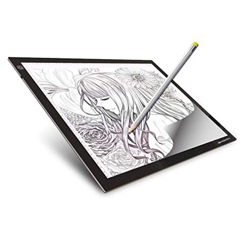 JUN GUANG A3 Light Box, LED Copy Board Drawing Touch Dimmable Tracing Table Art Craft Drawing Tracing Tattoo Board (Tattoo-tracing-board)