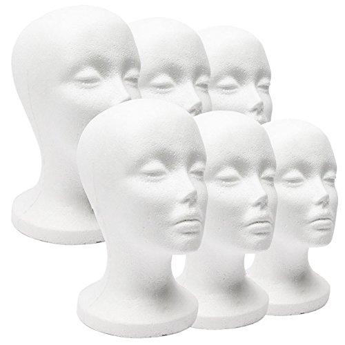 Cabeza de maniquí P12cheng, modelo de cabeza de maniquí, maniquí de espuma femenina, para sombrero, peluca, joyería, soporte de exhibición