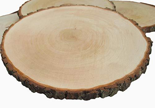 Natur Kampfer Holz Scheiben, unlackiert Holz runden Rustikal Tag Scheiben für Cupcake-Ständer, Hochzeit Mittelpunkt, DIY Craft, Drink Untersetzer Large braun