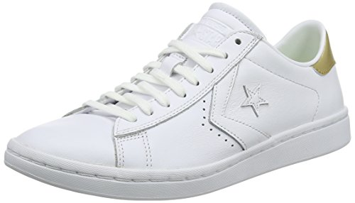 Converse Damen Pl Lp Ox Sneakers, Weiß (White/Light Gold/White), 39 EU