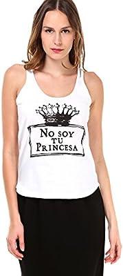 Top No Soy Tu Princesa Blanco