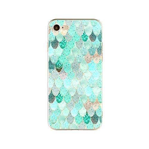 Coque iPhone 6 Plus 6s Plus Housse étui-Case Transparent Liquid Crystal en TPU Silicone Clair,Protection Ultra Mince Premium,Coque Prime pour iPhone 6 Plus 6s Plus-Marbre-style 10 4