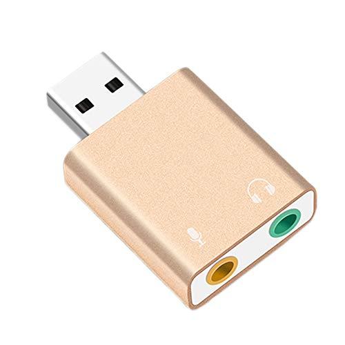 Lopbinte USB Sound Karte 7.1 Externer USB Anschluss Für 3,5 Mm Kopfh?rer Adapter Stereo Audio Mikrofon Sound Karte Für Pc Computer Laptop - Sound-karte Externe Computer Für