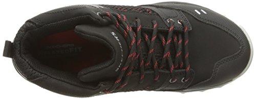 Skechers Trail Dozer, Sneaker Bambino Nero (Black/red)
