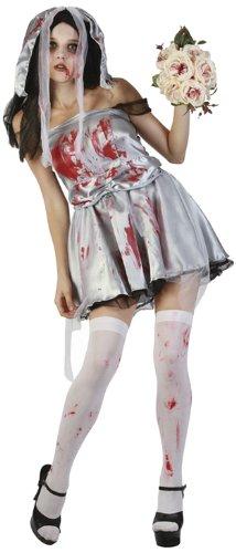 Horror Kostüm Braut - Boland 79013 - Erwachsenenkostüm Zombie Braut mit Kopfschmuck, Größe M