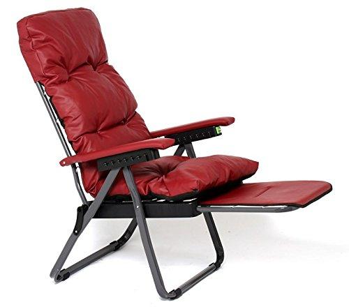 Il gruppone sdraio inclinabile ecopelle sedia poltrona made in italy imbottita giardino interno esterno nera o rossa