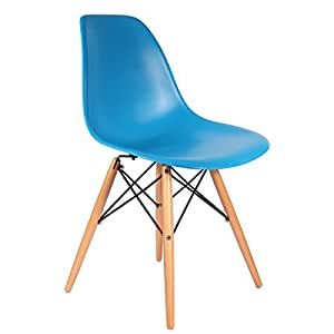 Chaise DSW - Bleu Royal, Naturel