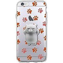 Squishy Blando 3D Animal Gato Cat iPhone 6s Case, Cute Stress Silicone Fun Kawaii Funda Carcasa Case Cover for iPhone 6 / iPhone 6s (Color-C)