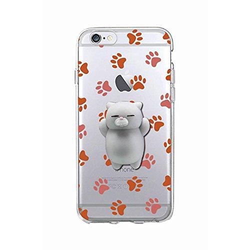 Squishy 3D Animal Tiere Cat Katze iPhone SE Case Hülle handyhülle, Cute Stress Silikon [2017] Spaß Hülle für iPhone 5s / iPhone 5 / iPhone SE (Color-H) Color-L