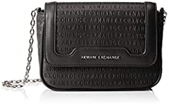 Idea Regalo - ARMANI EXCHANGE Crossbody Bag Colorful - Borse a spalla Donna, Nero (Black), 12x5.5x19 cm (B x H T)