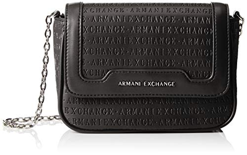 5fe56aef7 Armani Exchange - Crossbody Bag Colorful, Shoppers y bolsos de hombro Mujer,  Negro (
