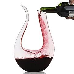 Idea Regalo - Decanter,Smaier 1200ml Decantatore di vino Aeratore Caraffa Accessori vino set da Regalo