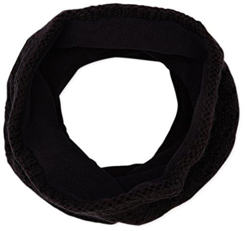 Buff - Scaldacollo multiuso in maglia con interno in pile, nero (Ninel), 22,7 cm