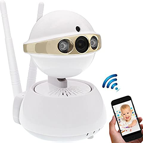 IP Camera,[UPGRADED]Security Camera Wireless Dual Antenna 720P HD Baby Pet Monitor with Pan/Tilt, Motion Detect Alert,Day/Night Vision,Two-Way Audio,Remote