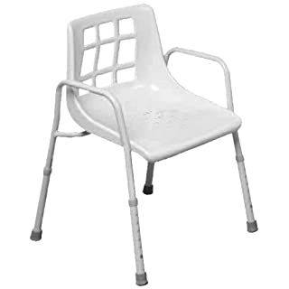 NRS Healthcare M48295 Shower Chair - Height Adjustable (Eligible for VAT relief in the UK)