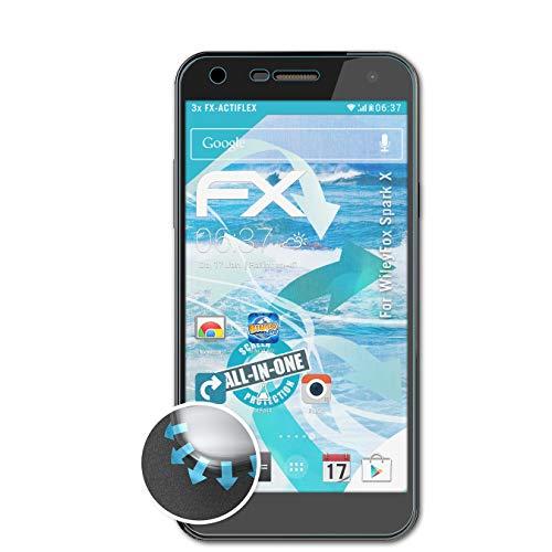 atFolix Schutzfolie passend für WileyFox Spark X Folie, ultraklare & Flexible FX Bildschirmschutzfolie (3X)