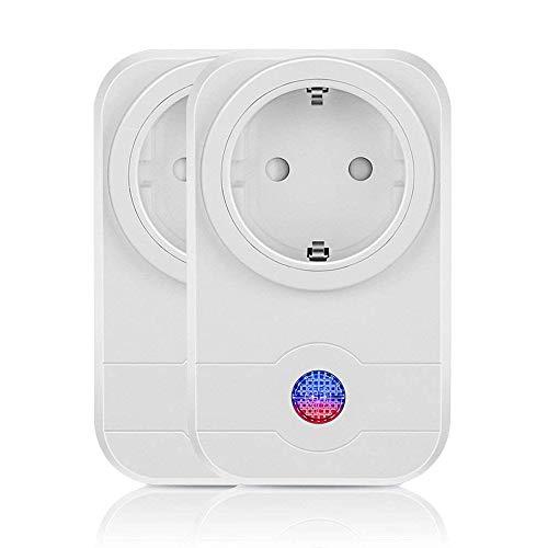 Smarte Steckdose Smart Home, Kompatibel mit Amazon Alexa, Timer, Intelligente WLAN Steckdose, APP Steuerung für IOS und Android, WI-FI Smart Socket, mobile Steuerung Zeitschaltuhr (2 Stück)