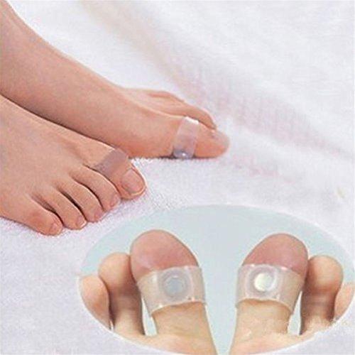xinyiwei 2Pcs Silikon Magnet Fuß Massage Ringe Zehenring für Abnehmen gesund, weiß