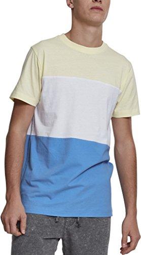 Urban Classics Herren T-Shirt Color Block Tee, Dreifarbig gestreiftes Shirt für Männer, Fa Preisvergleich