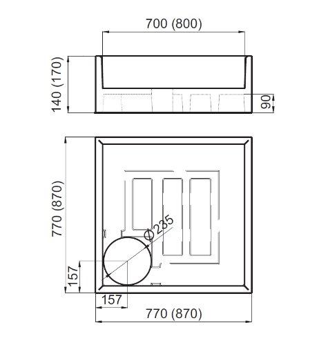 AQUABAD® Universal Duschwannenträger Styroporträger Wannenträger ... | {Duschwanne einbauen ohne wannenträger 38}
