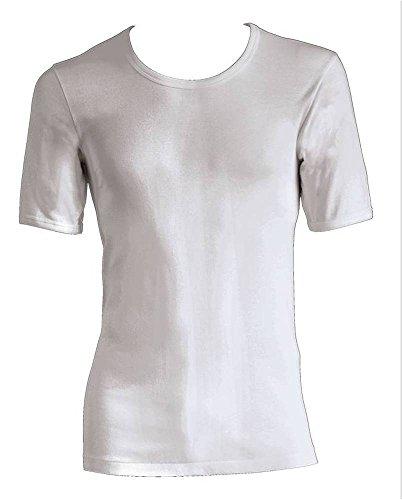 Preisvergleich Produktbild Nestos by Schöller ,Serie Hermes Feinripp , Herren Unterhemd mit ½ Arm,supergekämmte Baumwolle, weiß, Gr. 5/M