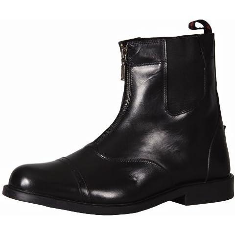TuffRider hombre Barouque cremallera frontal botas Paddock con cremallera de metal, negro, hombre, negro, 11,5