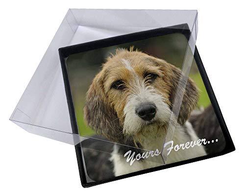 Advanta - Coaster Set 4X Welsh Fox -Terrier-Hund \ für Immer Dein.\ Bild Setzer gesetzt Weihnachts -