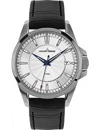 Jacques Lemans Herren-Armbanduhr XL Analog Quarz Leder 1-1704B