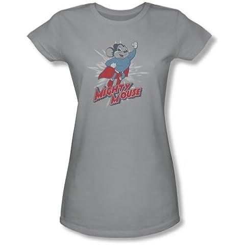 Mighty Mouse-Mighty Blast Off-Maglietta a maniche corte da donna, In