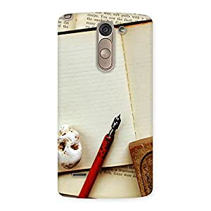 Special Little Diary Multicolor Back Case Cover for LG G3 Stylus
