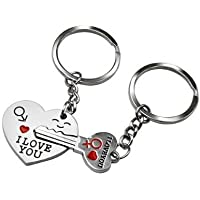 I Love You to The Moon and Back Key Ring Keyring Xmas Gift Silver