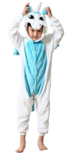 Pyjama en Flanelle kigurumi Fille blau 125 (Cookie Monster Kostüm Halloween)