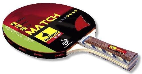 """Tischtennis-Schläger Trainingsschläger Match **** Star, der ideale Trainingsschläger, Griff \""""Concave\"""" ITTF zugelassen, mit 6 mm Furnierholz und 1,8 mm Schwamm"""