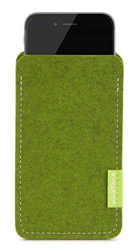 WildTech Sleeve für Apple iPhone 7 Plus / 6S Plus / 6 Plus Hülle Tasche - 17 Farben (made in Germany) - Hellgrau Farn