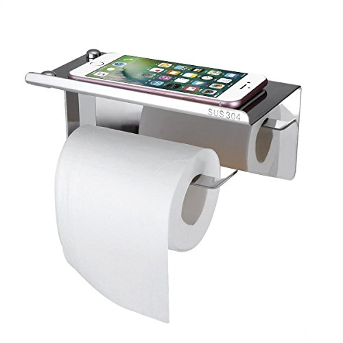 Homovater Toilettenpapierhalter ohne bohren Chrom Klorollenhalter Selbstklebend Klopapierhalter Edelstahl f/ür Bad,304 Edelstahl