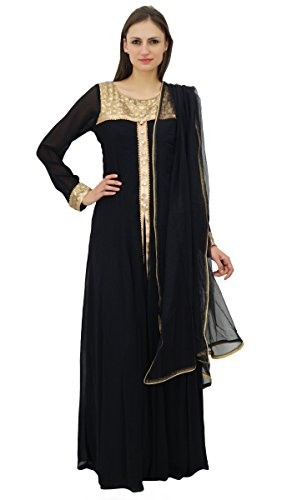 Atasi Women's Long Abay Style Salwar Kameez Suit With Dupatta Custom Clothing