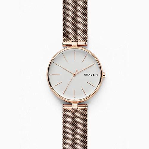 Skagen Damen Analog Quarz Uhr mit Edelstahl Armband SKW2709
