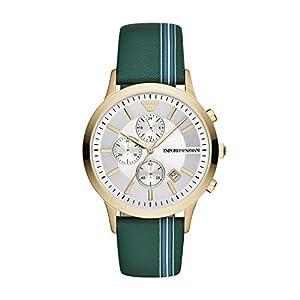 Emporio Armani Reloj Cronógrafo para Hombre de Cuarzo con Correa en Cuero AR11233