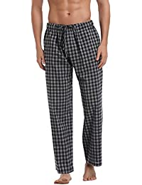 Aibrou Damen Schlafanzughose Pyjamahose Nachtwäsche Hose Baumwolle Lang  Sleep Hose Pants Kariert cc6dade4f6