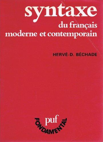 Syntaxe du français moderne et contemporain